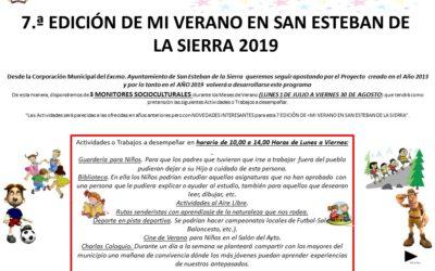 7.ª EDICIÓN DE MI VERANO EN SAN ESTEBAN DE LA SIERRA